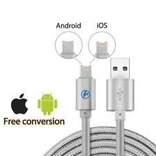 2 in 1 Lightning to micro reversible usb charging cable for iphone and android