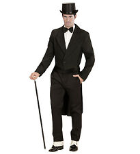 Medium Black Mens Tailcoat Jacket for Circus Ringmaster - Fancy Dress Costume