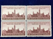NANEE-B) US # 943, SMITHSONIAN INSTITUTION 1946 BLOCK OF 4 MINT OG NH M191
