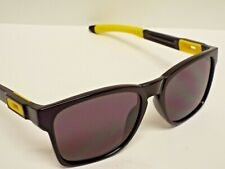 Authentic Oakley OO9272 Catalyst Polished Black Yellow Warm Grey Sunglasses