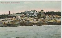 White Head Light White Head ,  Maine vintage postcard Lighthouse