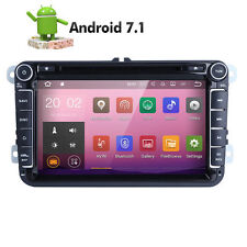 "GPS Navigation 8"" Android 7.1 Car Stereo CD DVD Player Radio WiFi USB for VW"