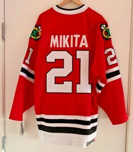 CCM Vintage Hockey Jersey Chicago Blackhawks Mikita #21 Jersey Men SZ 52 NWT