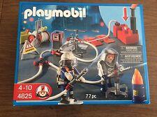 Playmobil 4825 Firemen in Hazmat Suits w/ accessories and water pump.