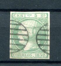 1852.ESPAÑA.EDIFIL 15 (oder) .usado.firmado Cajal.catalogo