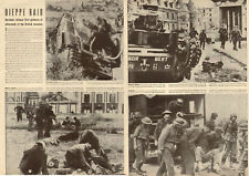 1942 WW II Article DIEPPE RAID Germans release first pictures Canadian 021218
