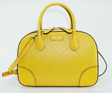 GUCCI Women's Bright Diamante Leather Top Handle Bag, Yellow, MSRP $1,750
