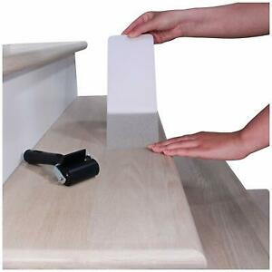 Discreet Non Anti Slip Stair Tape Clear Transparent Treads Textured Grip 15x Pck
