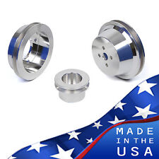 Big Block Ford Pulley Kit 429 460 BBF Underdrive 1 Groove V-Belt Billet Aluminum