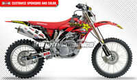 MX Graphics Decal Custom Sticker Kit Wrap for CRF450X CRF 450 X 2005 to 2017 Red