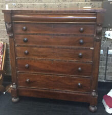 Antique Mahogany? Vaneer Chest Of Drawers For Restoration
