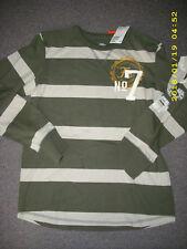 Cooles khaki gestreiftes Langarmshirt H&M Gr.158/164 NEU!!!
