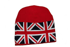 UNITED KINGDOM COUNTRY FLAG RED TOQUE HAT  .. NEW