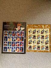 Disney Postage Stamps x2 USPS (Villains and Imagination)