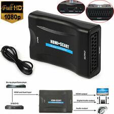 HDMI to SCART Adapter HD 1080P Video Audio USB Converter Cable TV SkyBox PS2