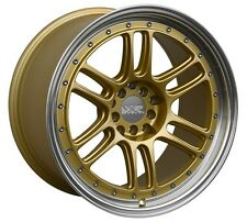 XXR 552 18X10 Rims 5x100/114.3mm +36 Gold Wheels Fits 350z G35 240sx Rx8 Rx7