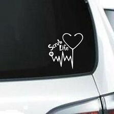 H178 Scrub Life Heartbeat Stethoscope Doctor Nurse vinyl decal car sticker