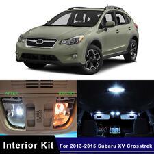 8x White Car LED Interior Lights Package Kit For 2013-2015 Subaru XV Crosstrek