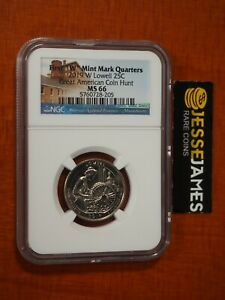 2019 W 25C LOWELL QUARTER NGC MS66 EARLY RELEASES GREAT AMERICAN COIN HUNT LABEL