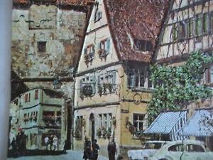 Contour Jigsaw Puzzle Raised Surface 3D 1968 Bavarian Street Scene 500+ Pcs