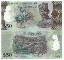 BRUNEI 50 DOLLARS 2004 POLYMER UNC P 28