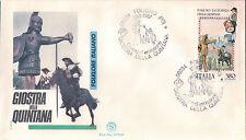 FDC ITALIA PRIMO GIORNO DI EMISSIONE 1987 GIOSTRA DELLA QUINTANA FOLIGNO 7-20
