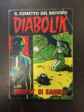 DIABOLIK N° 4 SECONDA SERIE 1965 EREDITA' DI SANGUE  ASTORINA / SODIP  cv12/16