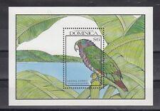 TIMBRE STAMP BLOC ILE DOMINICA Y&T#165 OISEAU BIRD NEUF**/MNH-MINT 1990 ~B82