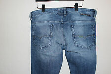 Diesel Safado Jeans 34x35 0833S Regular Slim Straight Blue Denim Style Ripped
