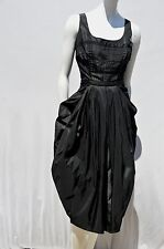 PRADA little black dress goth style pleated avant garde couture cocktail size M