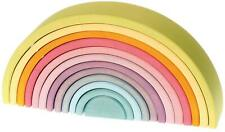 Grimm's Large Wooden Rainbow - 12 pieces in Pastel