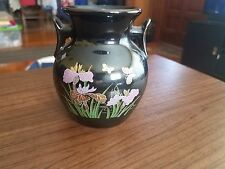 Gorgeous Small Black Painted Vase