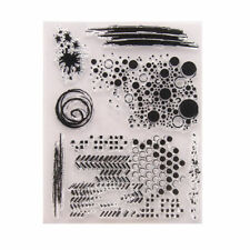 Transparent Silicone Artistic Background Stamp Set for Card Making/scrapbooking
