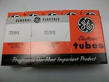 SLEEVE OF FIVE  GE 35W4  TUBES