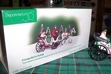 Dept 56 A Carriage Ride For The Bride #58901 #58956 Cic Village / Retired Nib