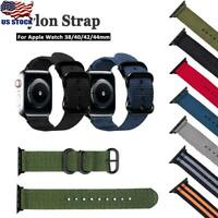 Nylon Woven Sport Loop iWatch Band Strap For Apple Watch Series 5/4/3/2 38-44mm