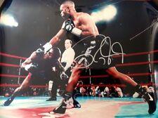ROY JONES JR AUTOGRAPHED SIGNED 16X20 PHOTO BLACK TRUNKS
