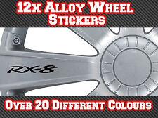 12x Mazda RX8 RX-8 Vinyle Stickers Autocollants Pour Jantes, poignées de porte, miroirs