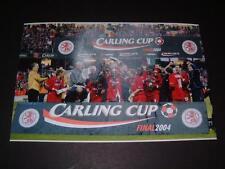 MIDDLESBROUGH FC 2004 CARLING CUP FINAL JUNINHO &TEAM CELEBRATION PHOTO