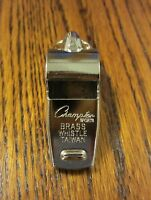 ONE NEW HEAVY DUTY CHAMPION BRASS METAL REFEREE WHISTLE SILVER COLOR