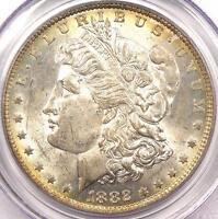 1882-O/S Strong Morgan Silver Dollar $1 - PCGS MS62 - Rare Variety BU UNC Coin