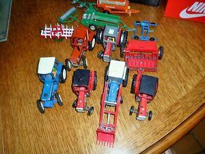 jouet ancien britains lot de tracteurs 6 tracteurs et 6 charrues