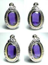 Powerful Nok Phra Gow Colors Lucky Gems Naga Eye Crystal Real Thai Amulet Rich