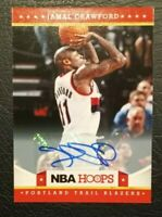 Jamal Crawford 2012-2013 NBA Hoops #129 Autograph Portland Trail Blazers NBA