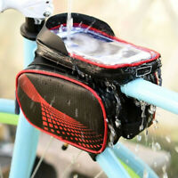 Front Bicycle Bag Double Side Cycling Pack Touch Screen for 5.8-6.2''