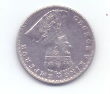British India one rupee silver coin King George ERROR BROCKAGE print on reverse