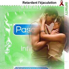 Lot 14 préservatifs ❤ PASANTE INFINITY ❤ Retardant l'éjaculation à la lidocaïne