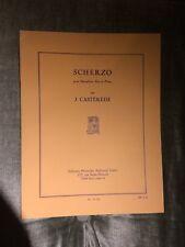J. Casterede Scherzo pour saxophone alto piano score partition Leduc