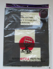 5 #35V Parker Heatseal Photo Pages, Mount Photographic 3 1/2 X5 Prints In Albums