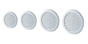 Round Air Vent Grille with Anti-Insect Mesh Fly Screen Duct Ventilation Cover TR
